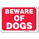 """Beware of Dogs Warning Sign - Avoid Dog Bites - 7""""x10"""" - .040 Rust Free Heavy Duty Aluminum - Made in USA - UV Protected and Weatherproof - A81-275AL"""