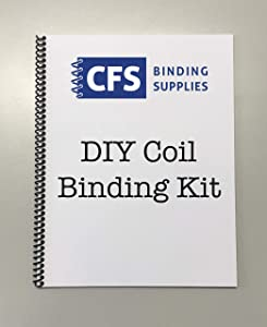 DIY Coil Binding Kit - 25 Books (Includes Pre-Punched Paper & Covers