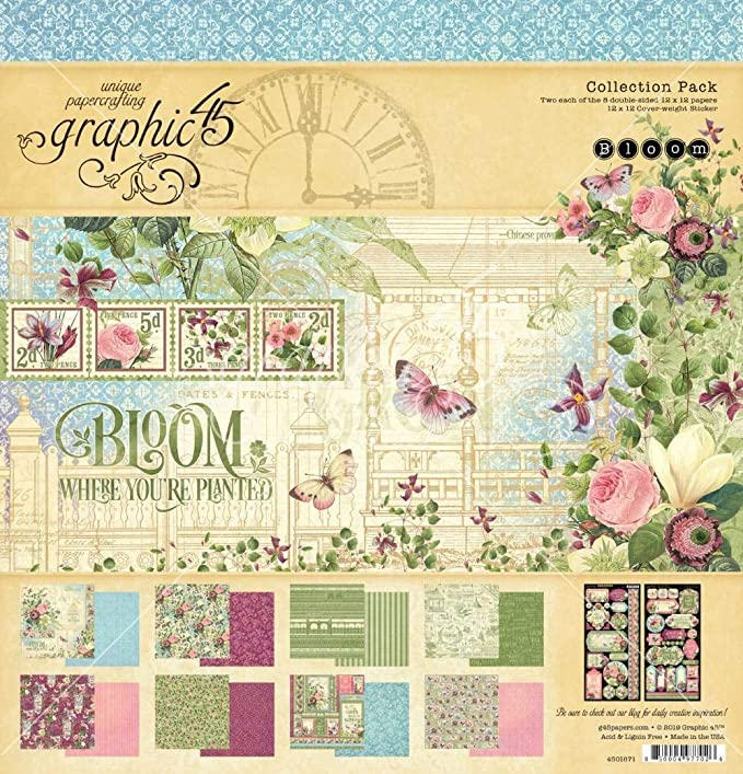 Bloom GR4501873 Tags /& Pockets Graphic 45 Multicoloured