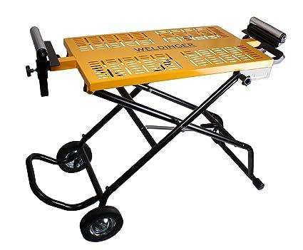 weldinger móvil tronzadora y sierra de mesa ajustable de ruedas plegable (Banco de mesa)