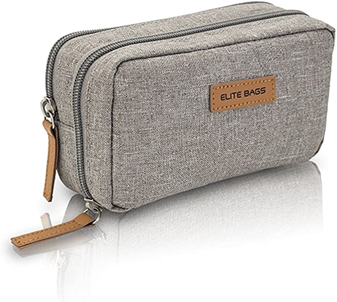 Elite Bags Diabetic´s Estuche para Diabéticos Isotérmico, Gel de Frío Incluído, Múltiples Compartimentos, Gris, 17 x 10 x 6 cm: Amazon.es: Salud y cuidado personal
