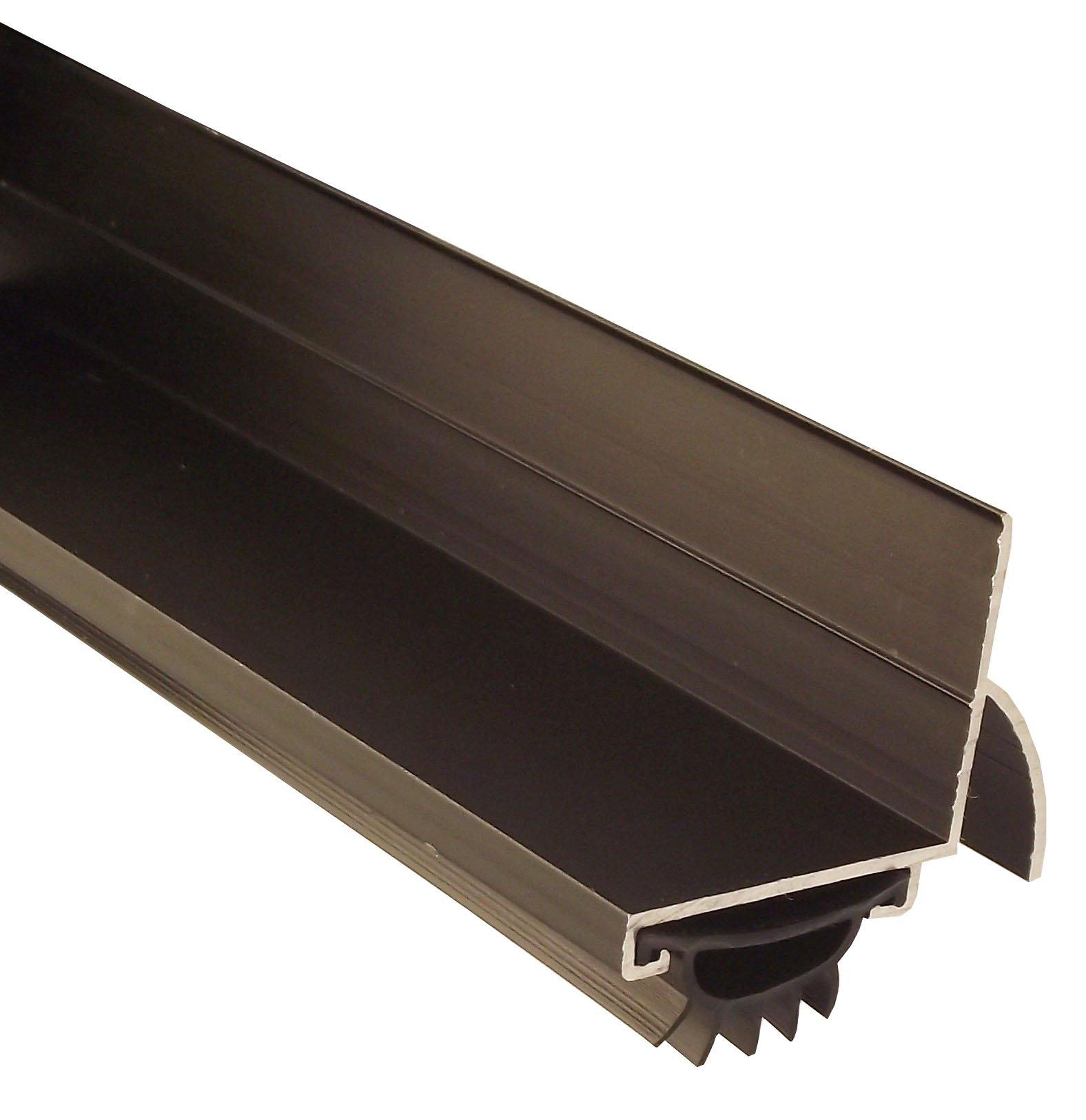 Pemko 085589 210DV36 Door Shoe, Dark Bronze Finish with Black Eco-V Insert, 2'' Width, 36'' Length, Dark Bronze
