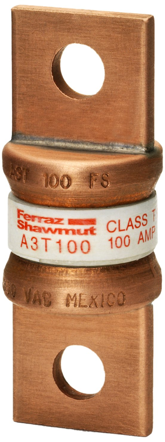 Mersen A3T100 300V 100A T Fuse, 5-Pack