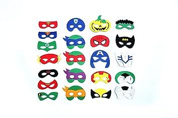 Madeb Máscara de superhéroe Infantil 22 Piezas Máscaras de ...