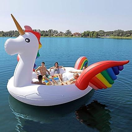 Amazon.com: PNYGJR Unicornio de gran tamaño Flotante Casa de ...