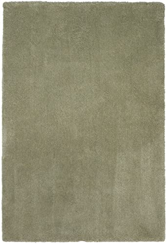 KAS Bliss 2 3 x 3 9 Hand-Woven Shag Rug in Sage