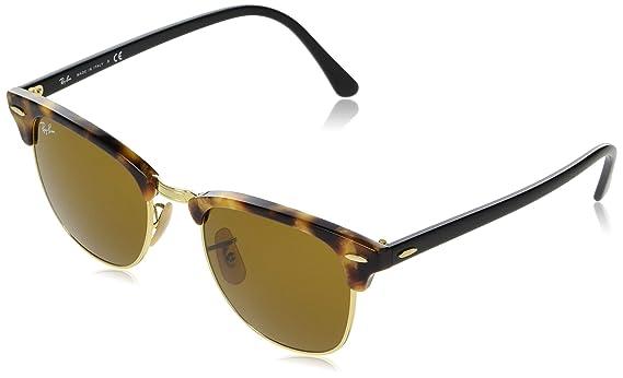 Ray-Ban Clubmaster - Gafas de sol para hombre, Multicolor (Marco: Havana,Tortoise Glas: Marrón 1160), 51 milímetros