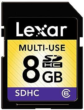 Lexar 8GB SDHC Class 6 Memoria Flash Clase 6 - Tarjeta de Memoria (8 GB, SDHC, Clase 6, Negro)
