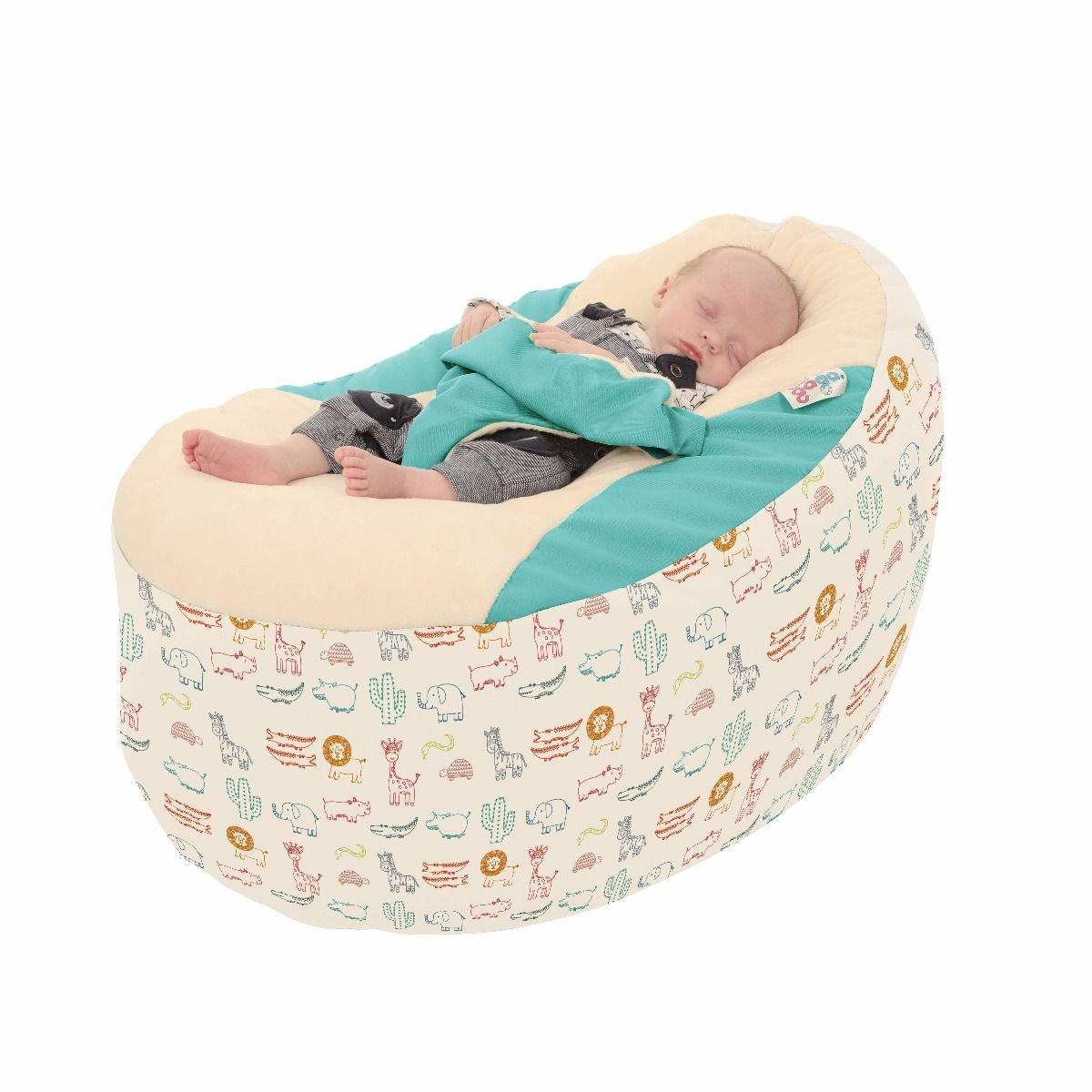 Zoo Animals Gaga+ Baby to Junior Beanbag (Black) rucomfy Bean bags