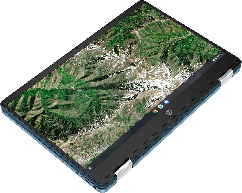 HP 2-in-1 Convertible Chromebook, 14inch HD Touchscreen, Intel N4020 Processor Up to 2.80GHz, 4GB Ram, 64GB SSD, Chrome OS, JJTK 16GB USB Drive (Renewed)