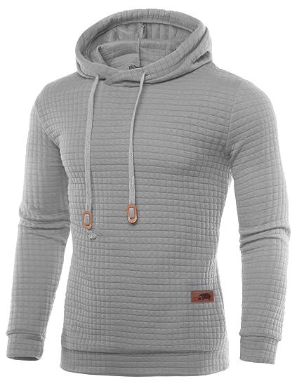 HEMOON Herren Basic Kapuzenpullover Sweatjacke Leichtgewichts Pullover  Hoodie Sweatshirt  Amazon.de  Bekleidung 19a871e5a9
