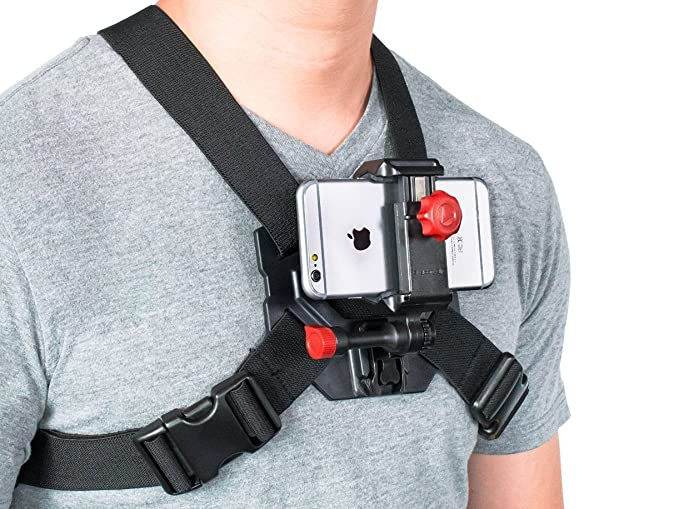 Amazon.com: iPhone 6 & 6 Plus Chest Mount Strap for Action POV ...
