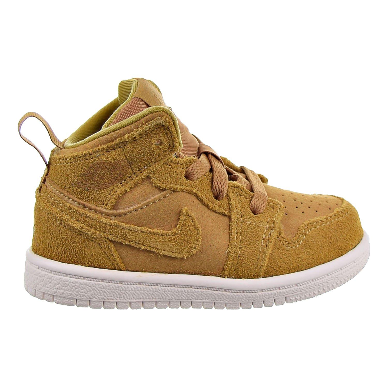 cb84546c8cecd5 Amazon.com  Jordan 1 Mid (BT) Toddlers Shoes Golden Harvest Sail 640735-725  (10 M US)  Shoes