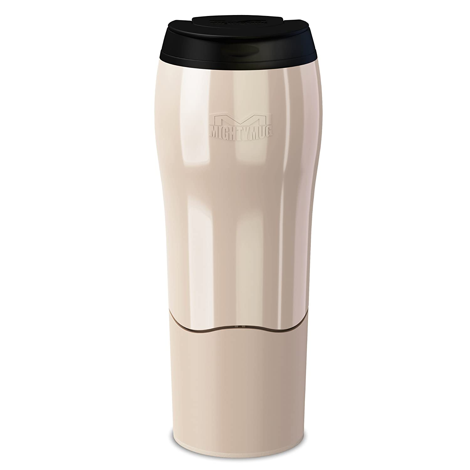 Mighty Mug Go - The Travel Mug That Won't Fall Over (0.47 Litre), Pearl 17920226