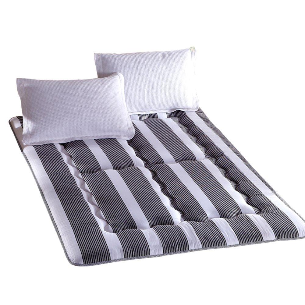 Yellow star Mattress single size,Student dorm futon mattress topper quilted double mattress tatami floor mat non-slip portable sleeping pad-B 90x195cm(35x77inch)