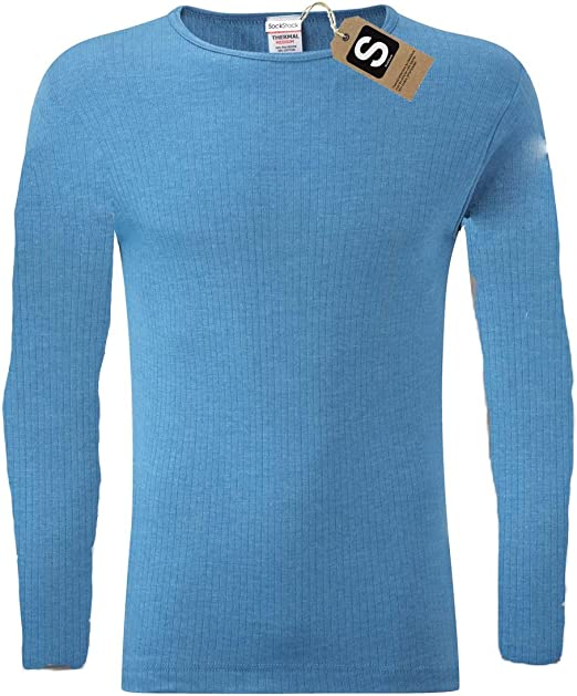 S M L XL XXL Thermals Warm Underwear Baselayer Heatwave/® Pack of 2 Mens Thermal Long Sleeve Top
