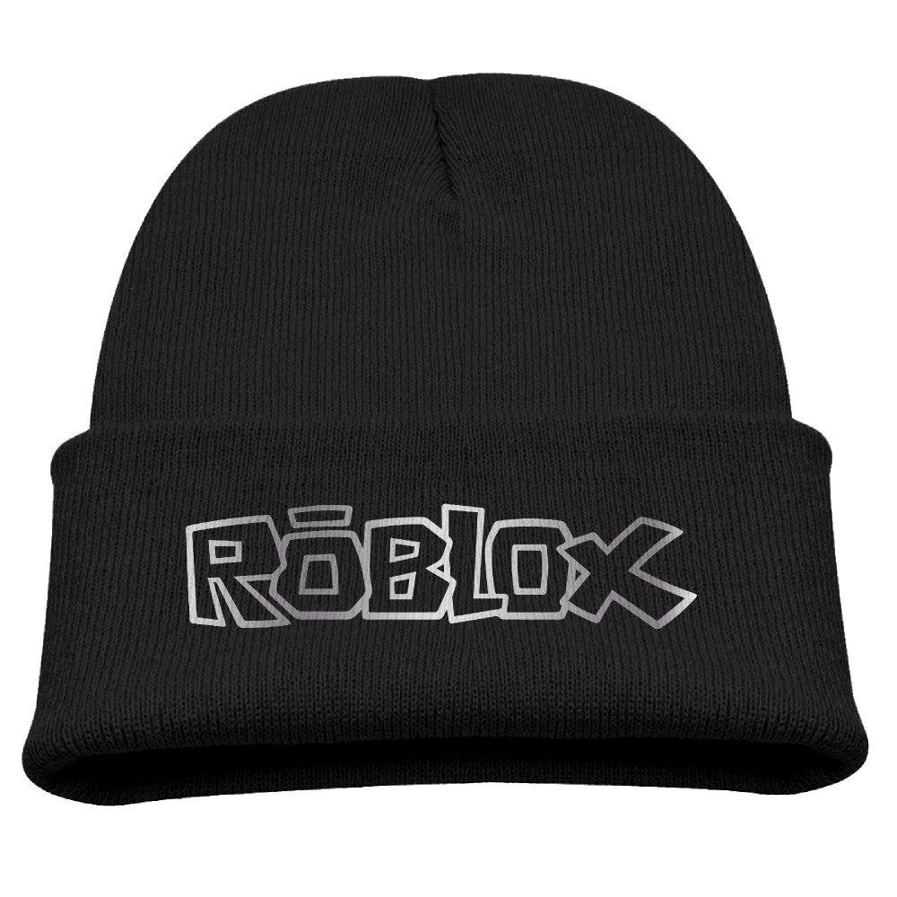 Kids Roblox Logo Platinum Style Beanie Cap Black CHAPPY CAPSSD