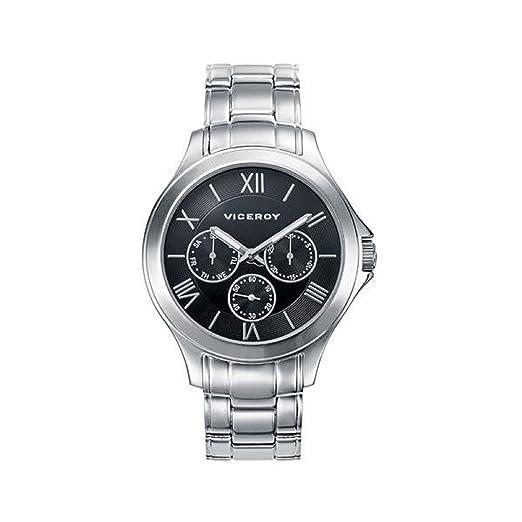Reloj Viceroy 47895-53 Hombre Negro Acero Multifunción: Amazon.es: Relojes