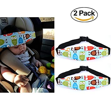 2 Pcs Infants Baby Kids Head Support Band Carseat Straps Covers Slumber Sling