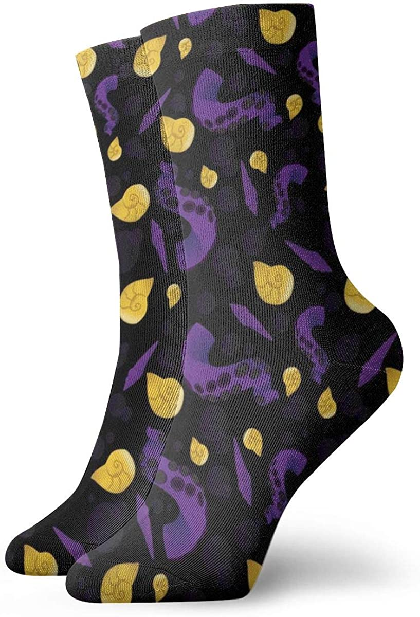 Cotton Crew Socks For Men Women Casual Socks With Halloween Octopus Tentacles Gothic Print