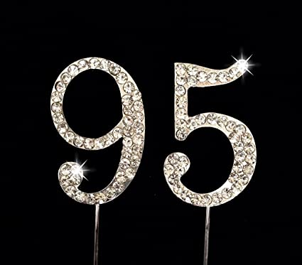 Image Unavailable Not Available For Color 95th Birthday Number Cake Topper