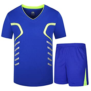 INVACHI Hombre Camiseta de fútbol Baloncesto Camiseta Deportiva Unidad de Camisetas & Pantalones Cortos Corto Tiempo