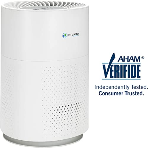 GENIANI Home Air Purifier with True HEPA Filter for Allergies and Pets Smoke Mold Germs and Dust – Odor Eliminator and Air Cleaner for Large Room with Optional Night Light – 2-Year Warranty