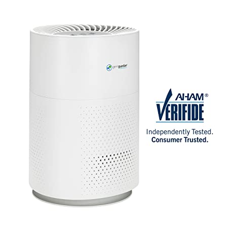 Germ Guardian AC4200W True HEPA Filter Air Purifier for Home, Full Room, Filters Allergies, Dust, Pet Dander, Smoke and Odors, Quiet, 3-Yr Wty, GermGuardian, White