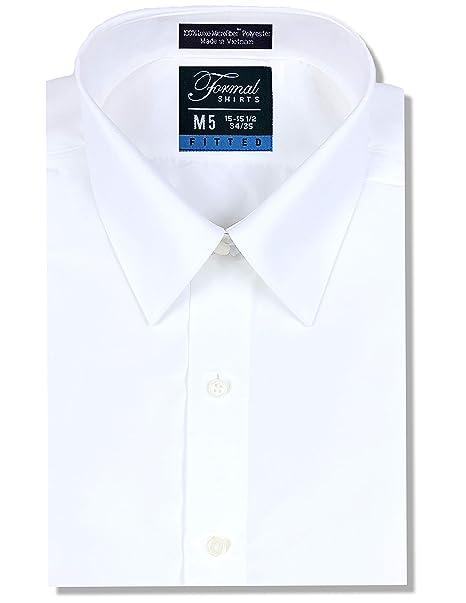 Amazon.com: Luxe - Camisa de microfibra para hombre con ...