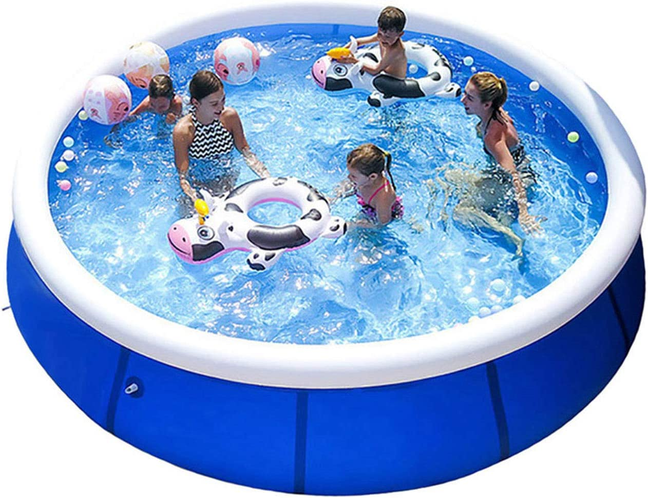 Massimiliano Incas Large Inflatable Ground Swimming Pool for a Whole Family, Summer Outdoor Pool Suitable for Adults, Kids, Fun Water Pool Party for Garden, Backyard