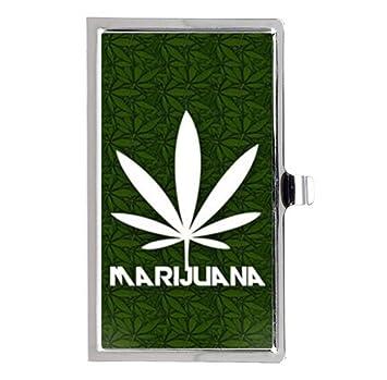 Hot New Weed Marijuana Unique Tui Carte De Visite Bote Acier Inoxydable