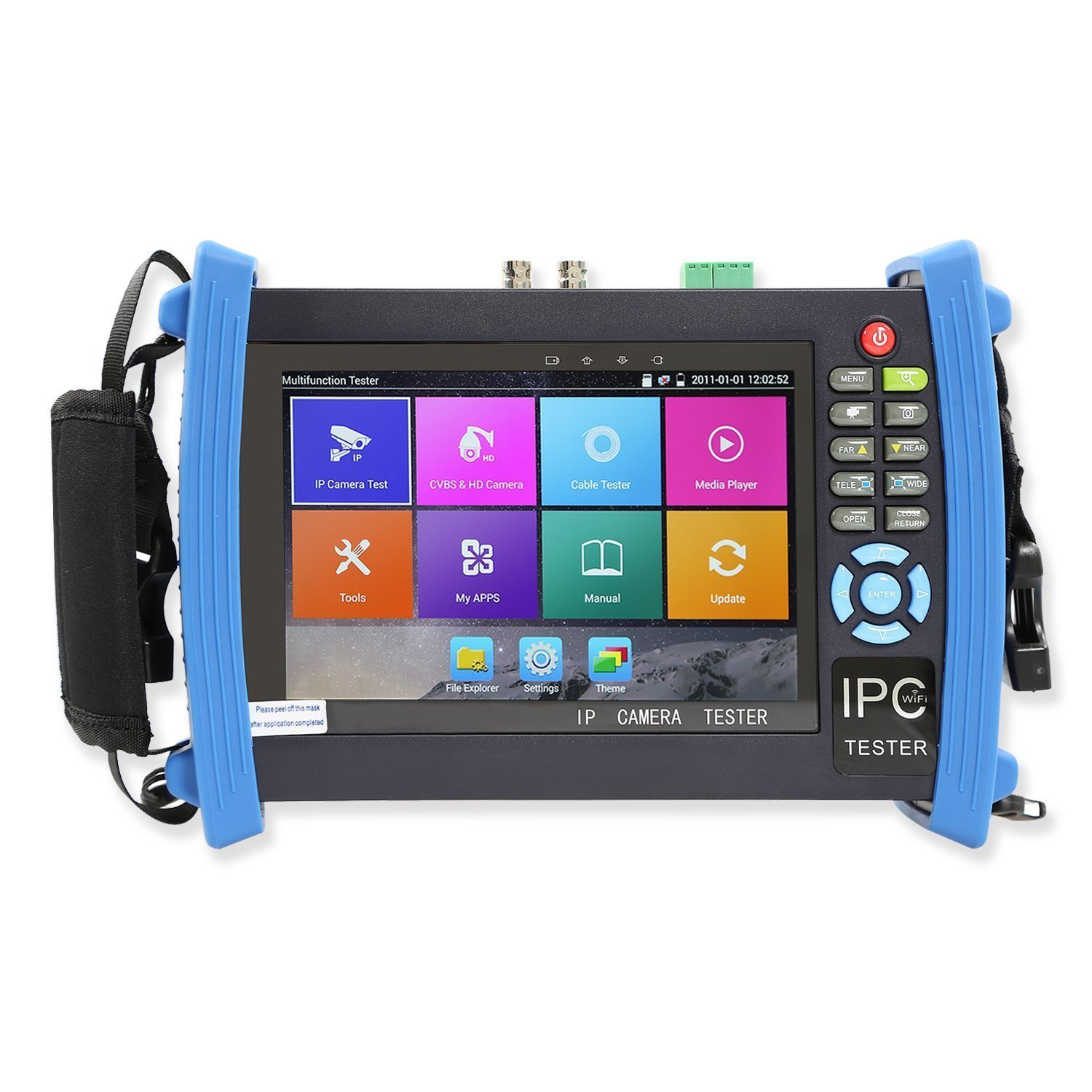 Wsdcam 7 Inch 1080P Retina Display IP Camera Tester CCTV Tester Analog Tester with POE/IP Discovery/Rapid ONVIF/WIFI/8G TF Card/4K H.265/HDMI in&Out/RJ45-TDR/Firmware Update Upgraded 8600-Plus by wsdcam
