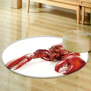 Amazon Com Small Round Rug Carpet Lobster Door Mat Indoors Bathroom