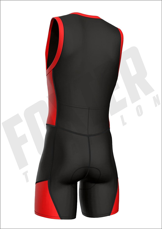 Fahrradfahren Laufen Triathlon-Anzug f/ür Herren von Foxter zum Schwimmen