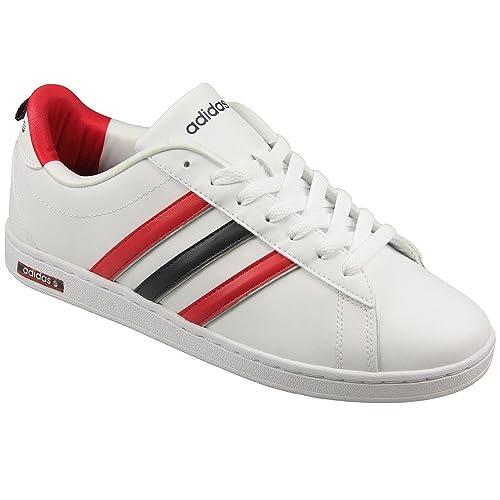 sneakers for cheap 4a5cb fc99f adidas - Zapatillas de Piel para Hombre Blanco Blanco  adidas NEO   Amazon.es  Zapatos y complementos