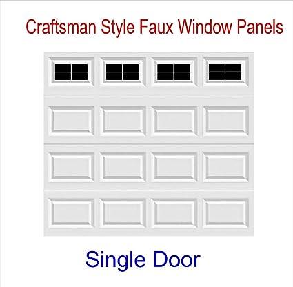 Craftsman Style Vinyl Garage Door Decal Kit - Faux Windows (Gloss Black)  sc 1 st  Amazon.com & Amazon.com: Craftsman Style Vinyl Garage Door Decal Kit - Faux ...