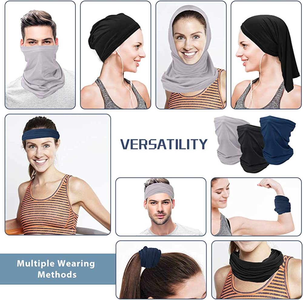 6 Piece Ice Silk Balaclava Face Mask Bandana,Sun UV Protection Neck Gaiter Mask,Magic Scarf Neck Gaiter,Windproof Scarf Sunscreen Breathable for Sport/&Outdoor