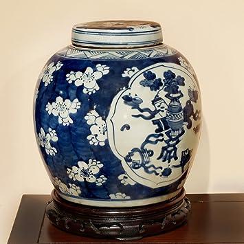 china furniture online porcelain jar hand painted floral and stilllife motif ginger jar - Ginger Jars