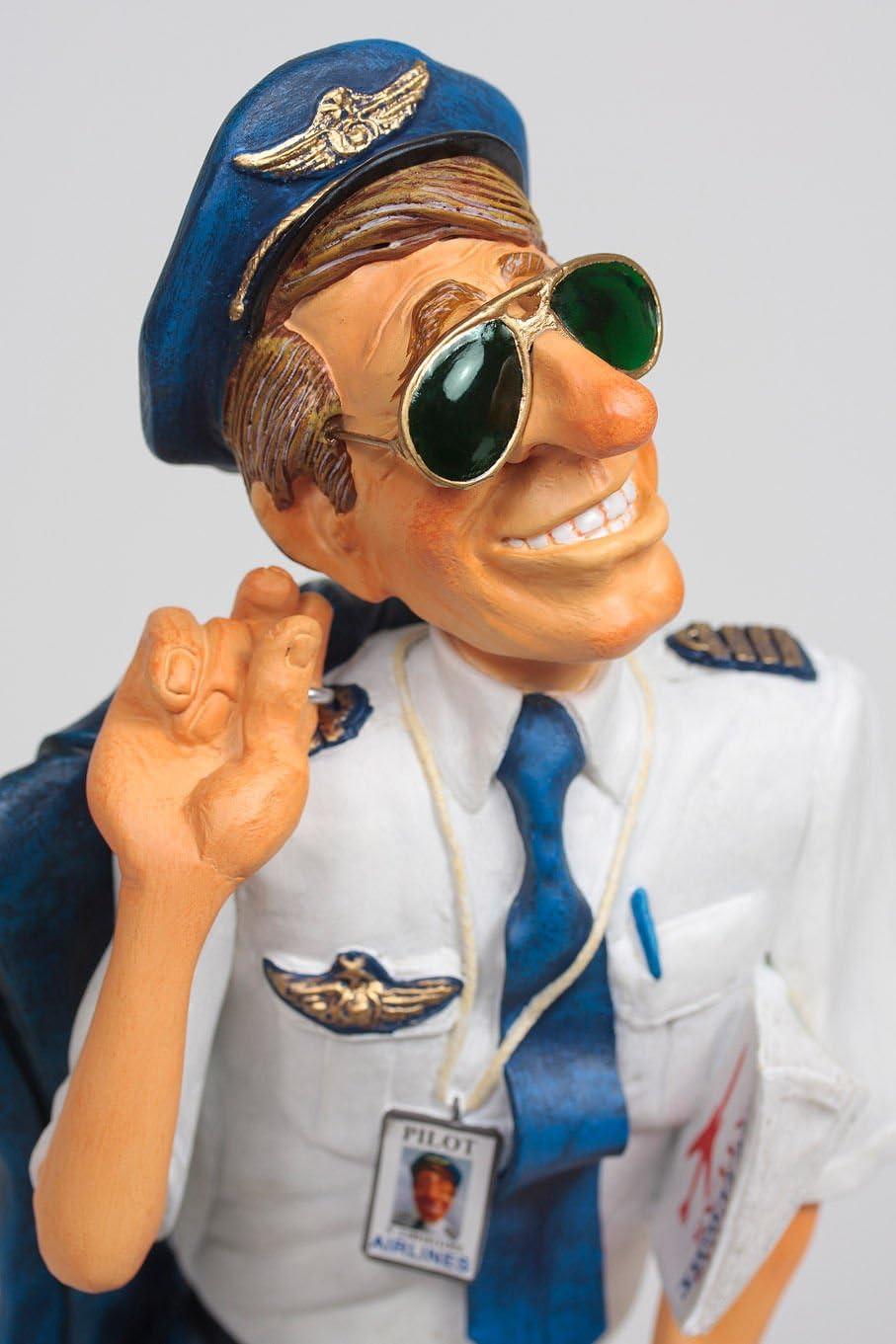 FO85523  FIGURINE METIER LE PILOTE D AVION  COLLECTION FORCHINO EXCEPTIONELLE
