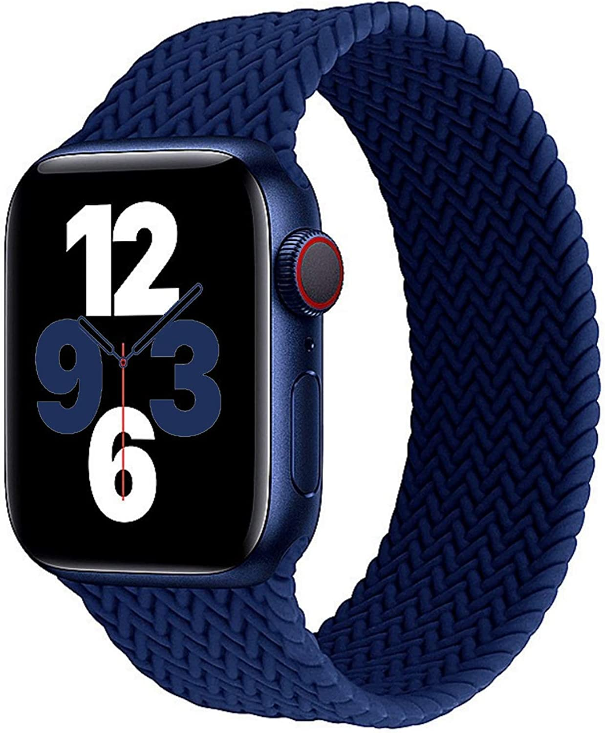 LAGOON Stretchy Silicone Solo Loop Bands Compatible with Apple Watch 38mm 40mm 42mm 44mm iWatch Series 6 SE 5 4 3 2 1 Strap, Silicone Braided Elastic Sport Strap Compatible for iWatch Series 6/5/4/3/2/1/SE