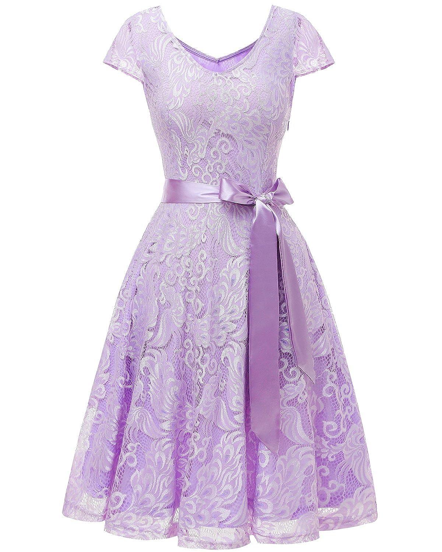 heißer Verkauf 2019 Bridesmay Damen Spitzenkleid Kurz