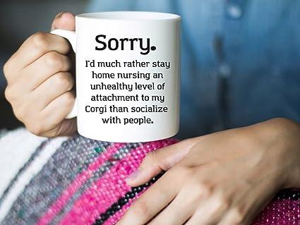 Amazon Com Stay Home Corgi Gifts Welsh Corgi Dog Mug Funny Pet Gift