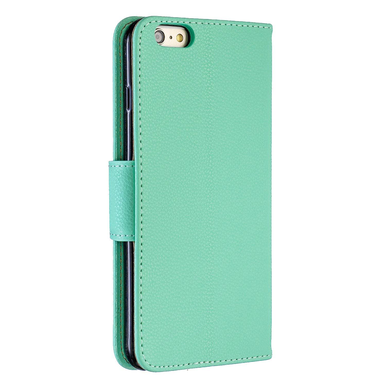 Carols Coque iPhone 6 Plus //6S Plus Brown Smartphone Flip Coque Premium PU /Étui Housse Coque pour iPhone 6 Plus //6S Plus 5,5 Zoll