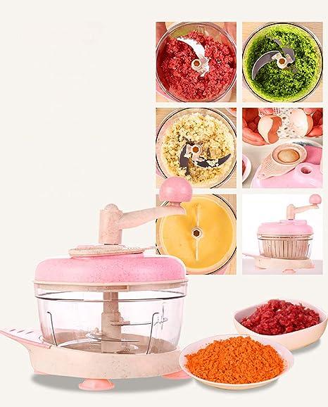 Compra ZLQF Picadora de Alimentos, Licuadora Manual tirando con 3 ...