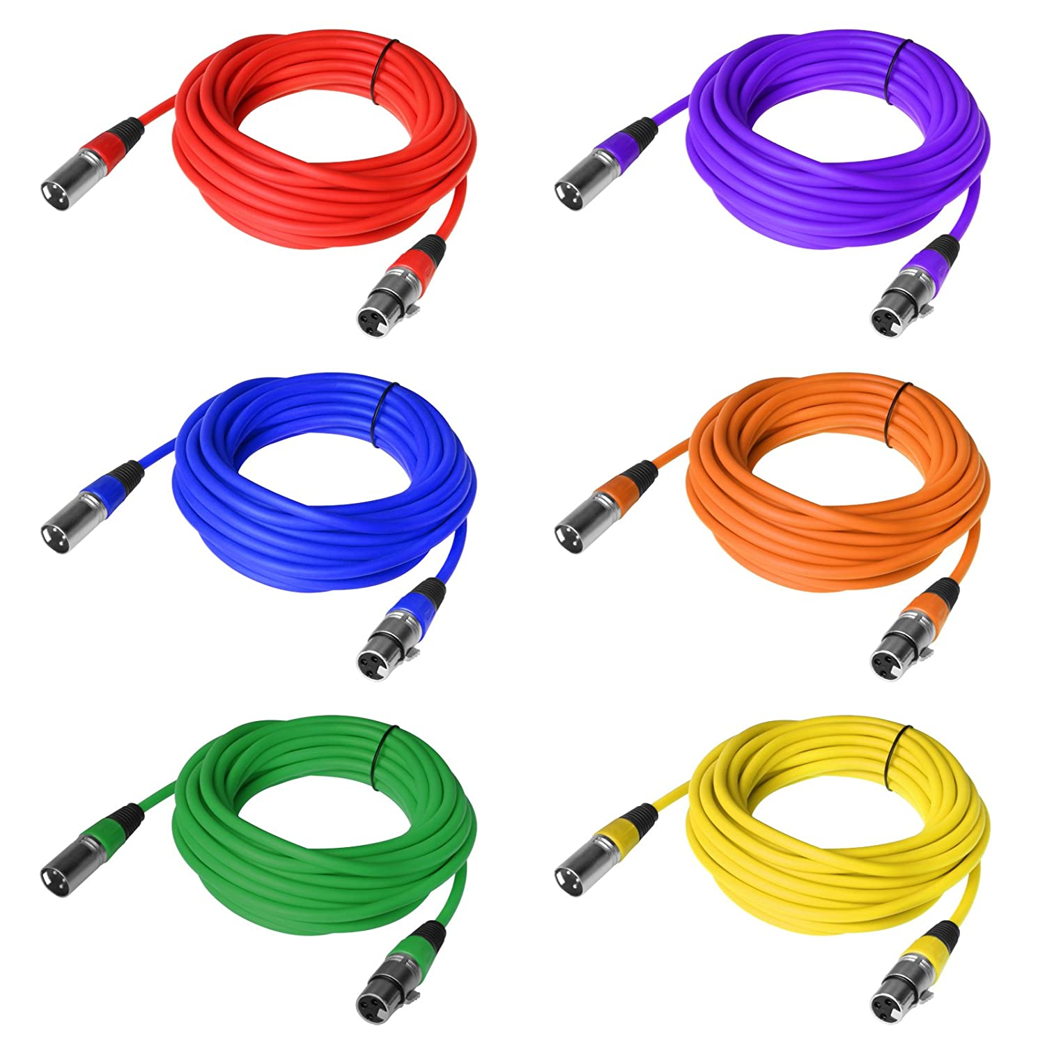 Tsss 76 Metre 6 Colours Xlr 3 Pin Male Female Plug Cable Dmx Signal Wiring A Wire For