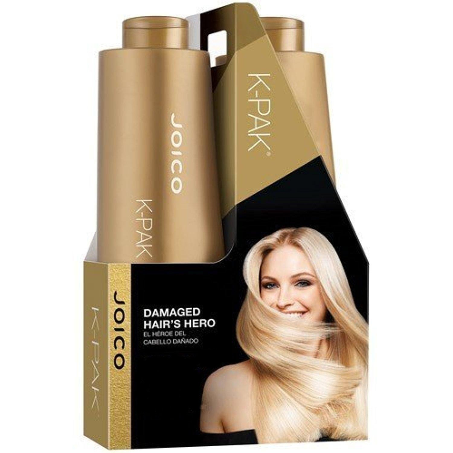 Joico K-Pak Shampoo and Conditioner Liter Duo Set, 33.8 oz by Joico