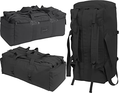 Image Unavailable. Image not available for. Color  Black Israeli Military  Mossad Tactical Carry Duffle Bag ... 9c7768f6f4698