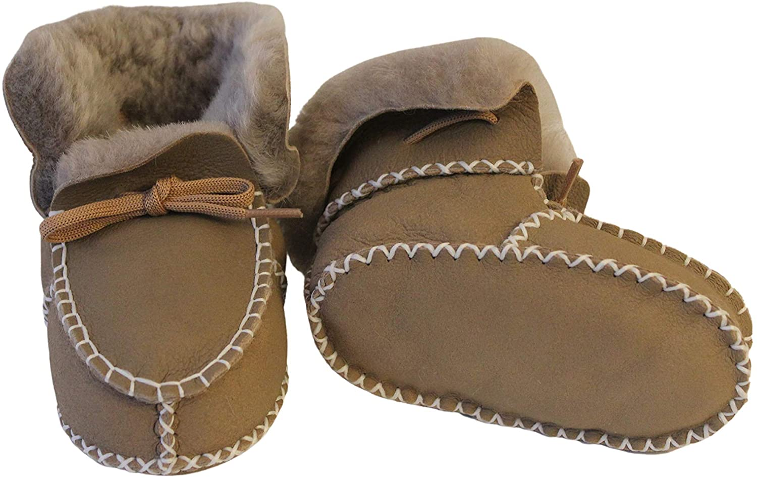 Shearling Slippers Child/'s Size 9 Handcrafted Beautiful Shearling Booties