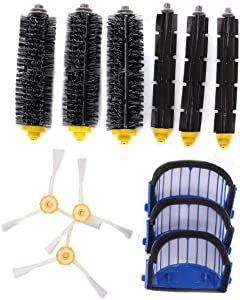 Hitommy Accessory Replacement Kit Brushes Brushes 3 Armed Aero Vac Filter for iRobot Roomba 600 Series