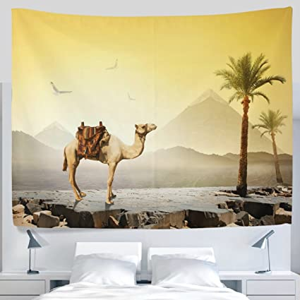Amazon.com: ALAZA African Ancient Egyptian Giza Pyramid Palm Tree ...